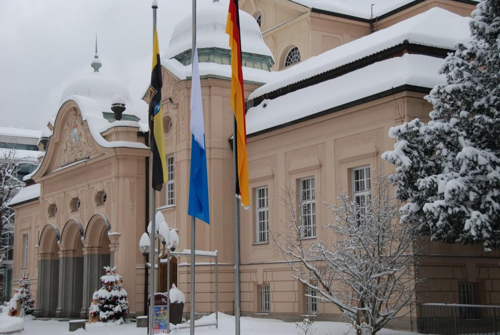 Königliches Kurhaus im Winter