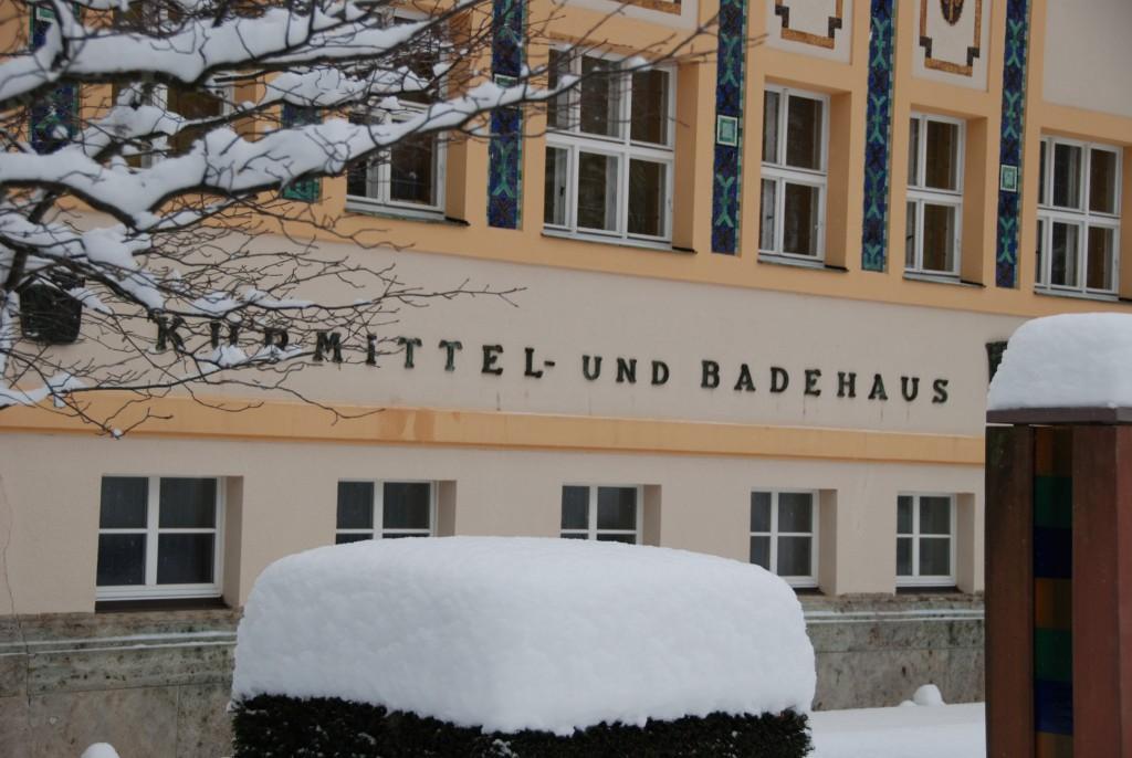 Kurmittelhaus im Winter