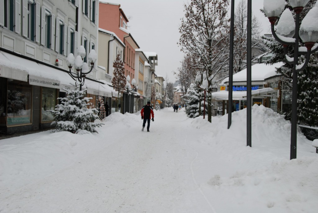 Fussgängerzone im Winter
