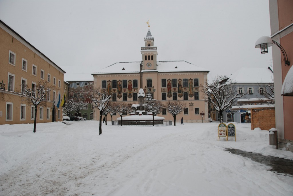Rathausplatz im Winter
