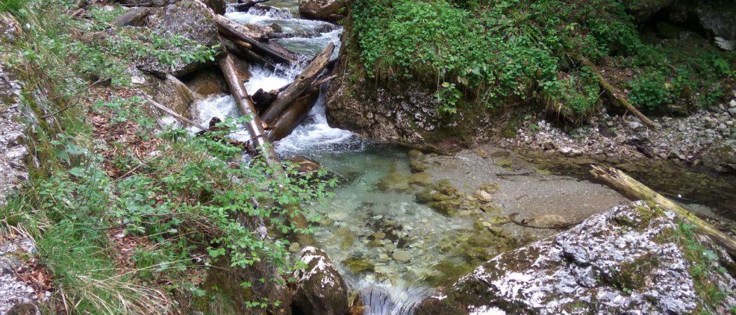Am Wasser entlang hoch zur Klause